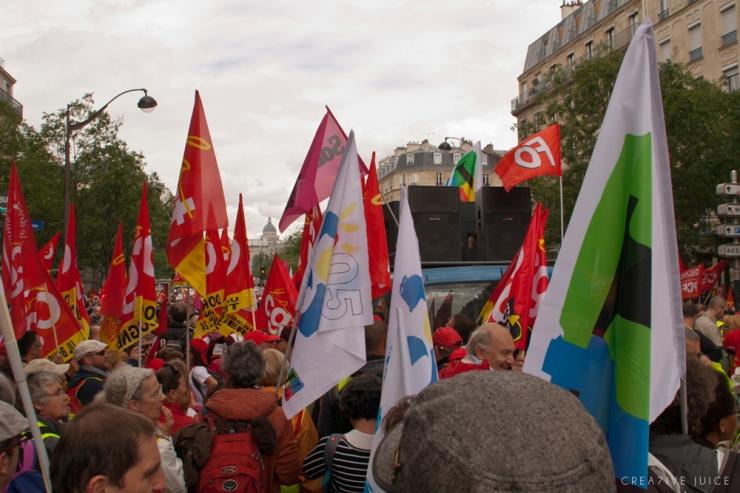 Manifestation parisienne contre la loi du travail